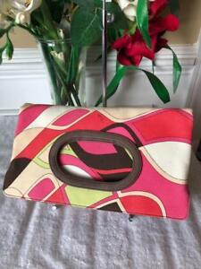 Emilio Pucci Foldover Clutch Bag Purse  (800