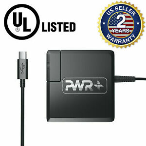 Universal Usb-c Travel Laptop Charger For Chromebook Notebook With Us+eu Plugs