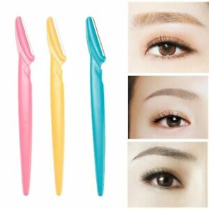 3pcs Set Portable Eyebrow Trimmer Hair Remover Women Face Razor Facial Shave