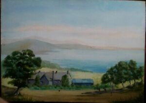 Unframed Oil On Mdf Board. Unsigned. Landscape Painting