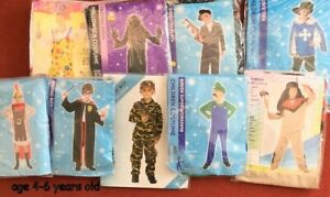 Wholesale Lot 9 Boys Halloween Fancy Dress Costumes Age 4-6 Years Old To Clear