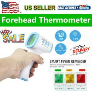 Contactless Ir Thermometer Baby Forehead Infrared Temperature Fever Laser Gun Us