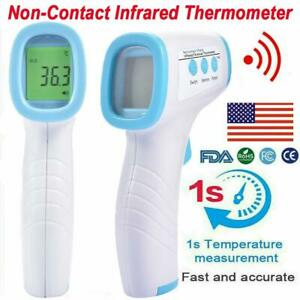Non-contact Ir Infrared Thermometer Gun Lcd Digital Forehead Bodybaby Adult Usa