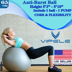 Vipele Exercise Ball (65cm) For Fitness, Stability, Balance & Yoga