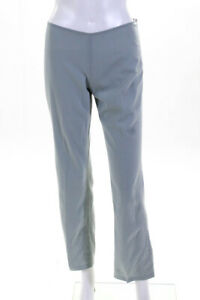Emilio Pucci  Womens Zip Up Pleated Trouser Pants Sage Green Wool Size 6