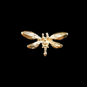 8pc Golden Alloy Dragonfly Decorations For Crafts Diy Hair Accessories Supplies