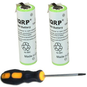 2-pack Hqrp Battery For Braun 8990 8991 8995 8975 8986 8987 Type 5647 5649