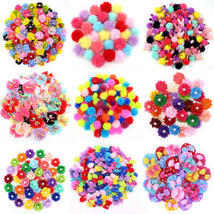 10x Cute Flower Ball Puppy Dog Hair Bows Dog Hair Accessories Pet Supplies