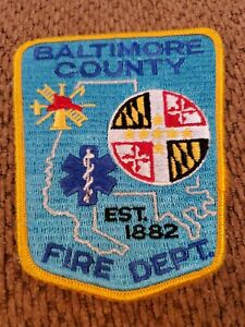 Baltimore County Maryland Fire Dept. Md Fd Ems Patch