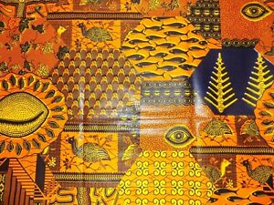 African Collage Print Fabric By 1/2 Yard Contact Us If Trouble Ordering 1513