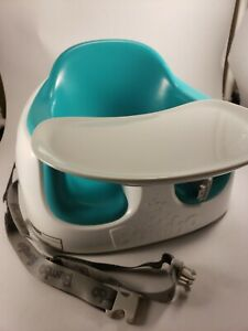 Baby Bumbo Seat With Safety Straps Installed - Teal Green Includes Tray