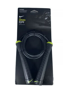 New Nike Speed Rope Skipping Sports Jump Adjustable Black Volt 9' Rope Allen Key