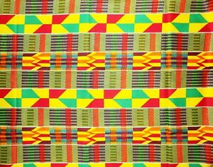 African Kente Fabric By 1/2 Yard Contact Us If Trouble Ordering 1603