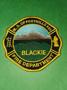 Fire Patch   Md Of Foothills #31 Blackie Fire Department Alberta Canada