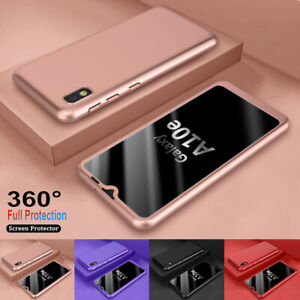 For Samsung Galaxy A10e A20 360 Shockproof Hybrid Case+tempered Glass Hard Cover