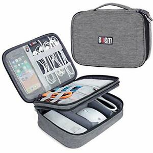 Bubm Travel Cable Bag, Ultra-compact Electronics Gadget Organiser Case For Data