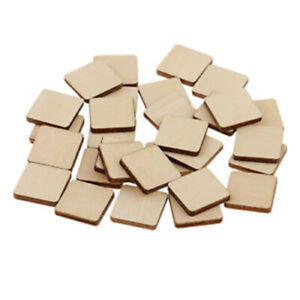 50/100 Pcs Mdf Unfinished Wood Wooden Pieces Blank Plaque For Diy Crafts 20~60mm