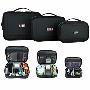 3 X Bubm Multiple Function Accessories Storage Carry Bag Case Usb Cable Memory