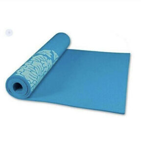 Athletic Exercise Yoga Mat With Fresh Blue-color-6mm Thickness Same Day Shipping