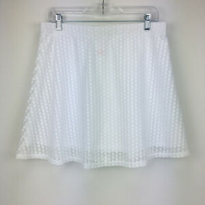 No Boundaries Womens Large Swimsuit Cover Up Skirt White Lace Lined Pull-on