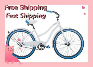 ⚡huffy Cranbrook 26 Inch Cruiser Bike With Perfect Fit Frame For Women - White⚡