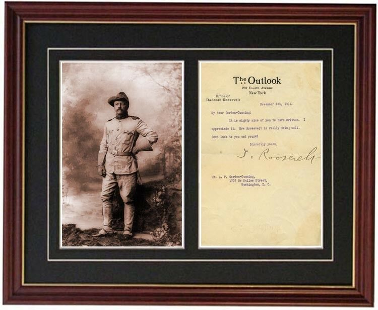 Theodore Teddy Roosevelt Letter Signed Signature