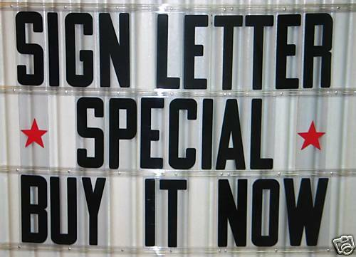 Inch Flexible Outdoor Portable Marquee Sign Letters