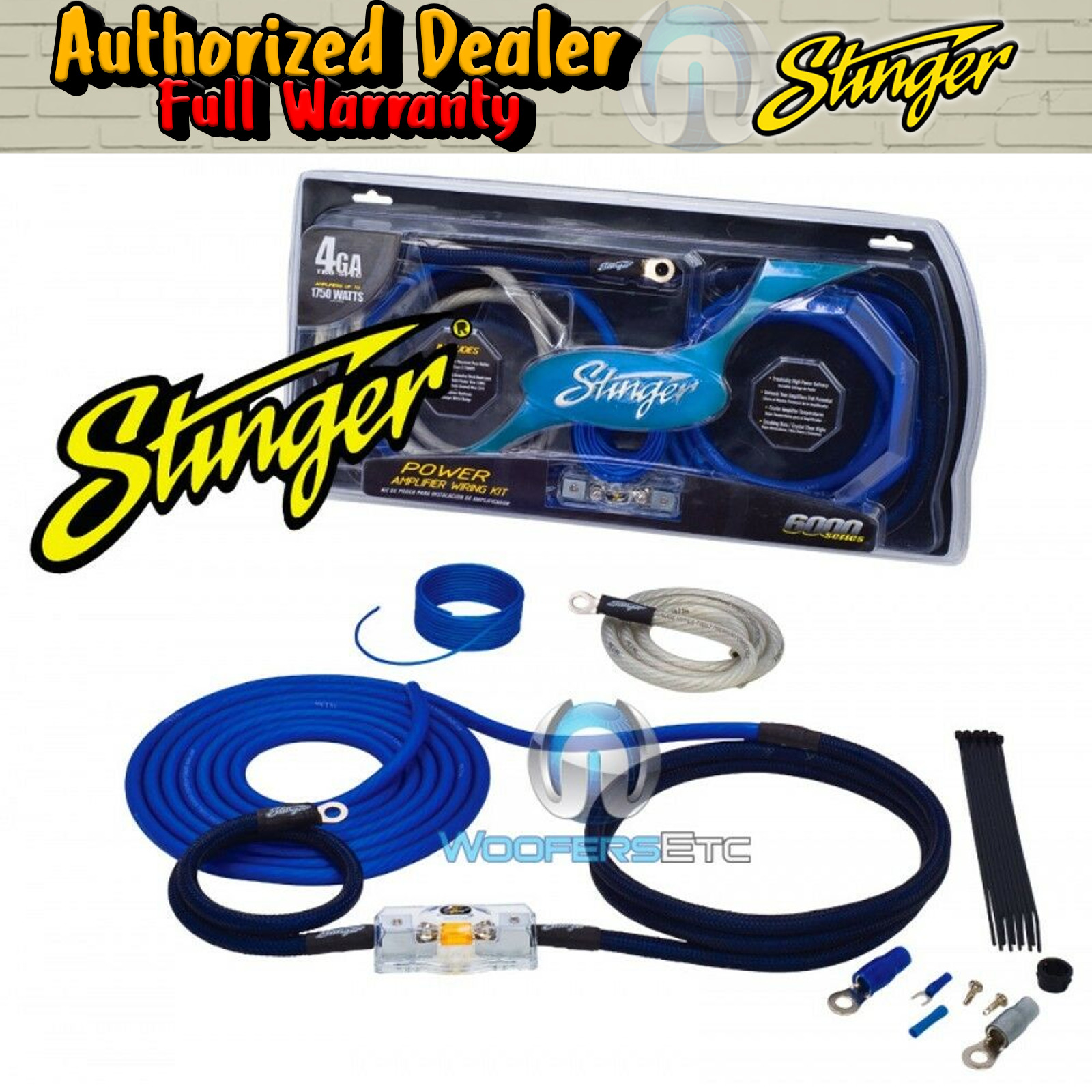 Stinger Sk6241 Car Audio Amp 4 Gauge Wire Amplifier Pro Wiring Installation Kits Install Kit New 1 Of 1free Shipping