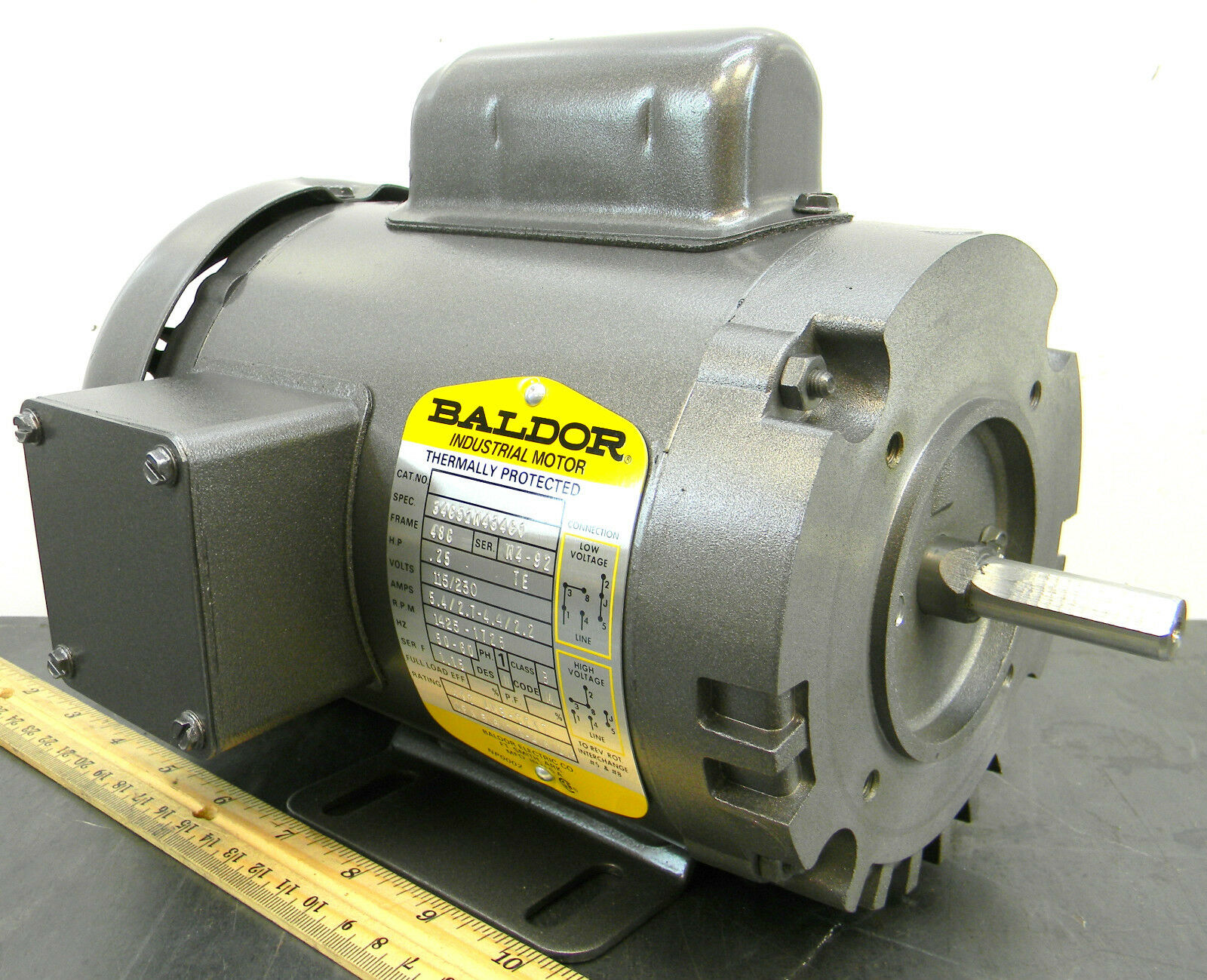 baldor m1d18 48c electric motor 1 4
