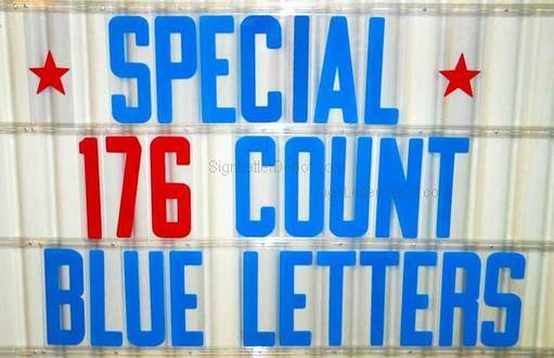 8 changeable letters for outdoor marquee portable signs