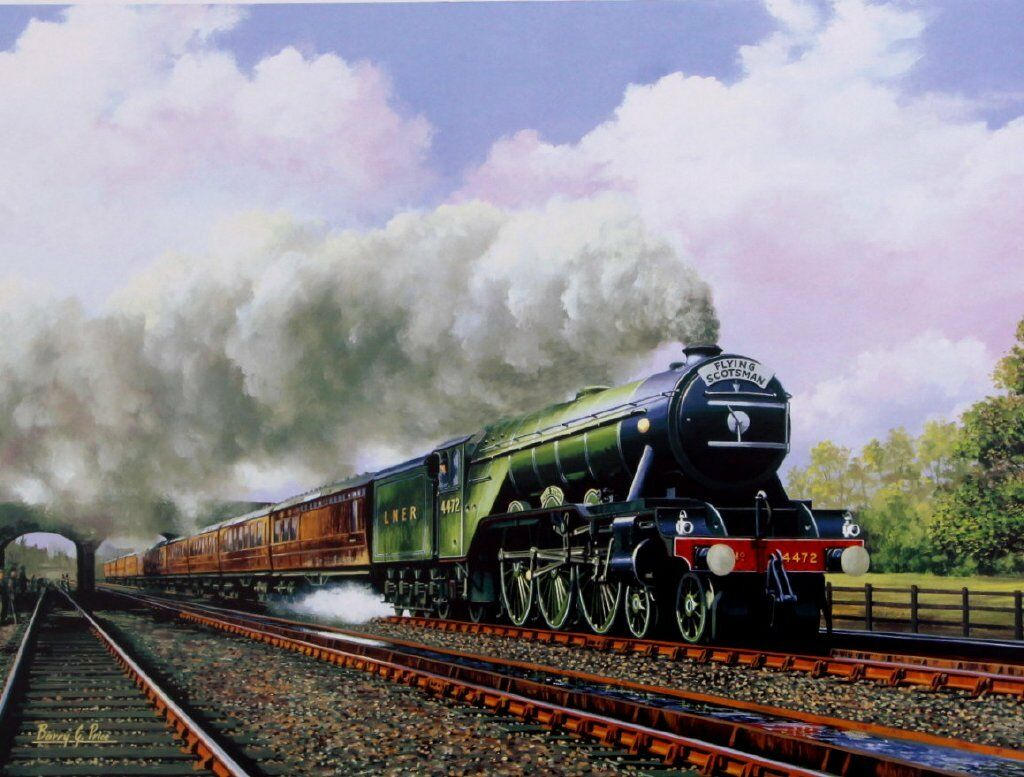 Beautiful Print Picture Painting Flying Scotsman 4472 ...