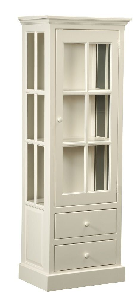amish kitchen pantry storage cabinet display cupboard white country
