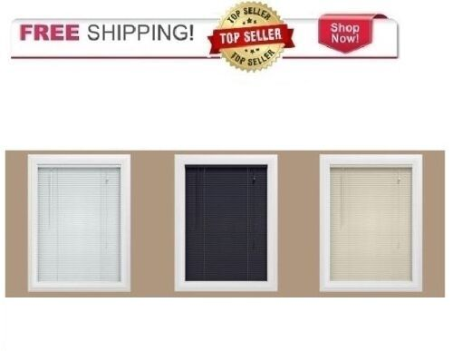 1 inch vinyl mini blinds shades of 1free shipping new inch vinyl mini blinds choose alabaster black or white you