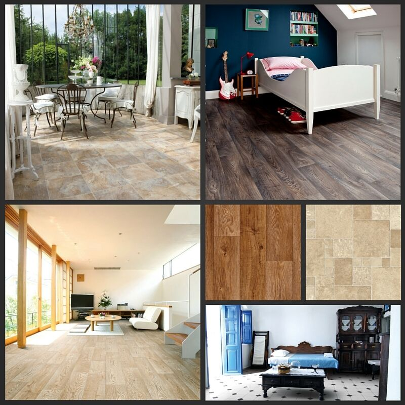 Cushion floor wood stone 4mm thick vinyl flooring for Cushion floor tiles kitchen