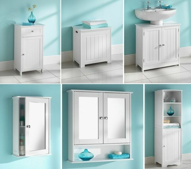 new style bathroom unit clean lines and a crisp white finish