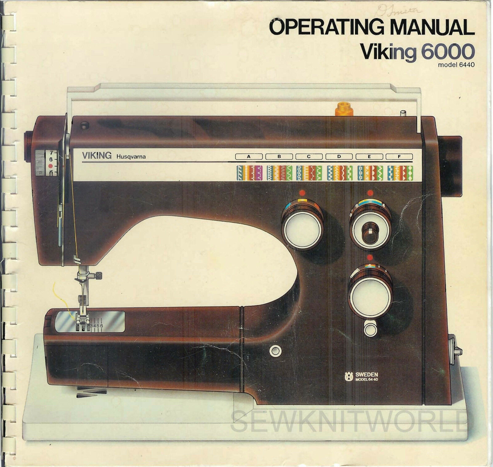 Viking Husqvarna 6440 Sewing Machine Manuals Cd / Pdf 1 of 1FREE Shipping  ...