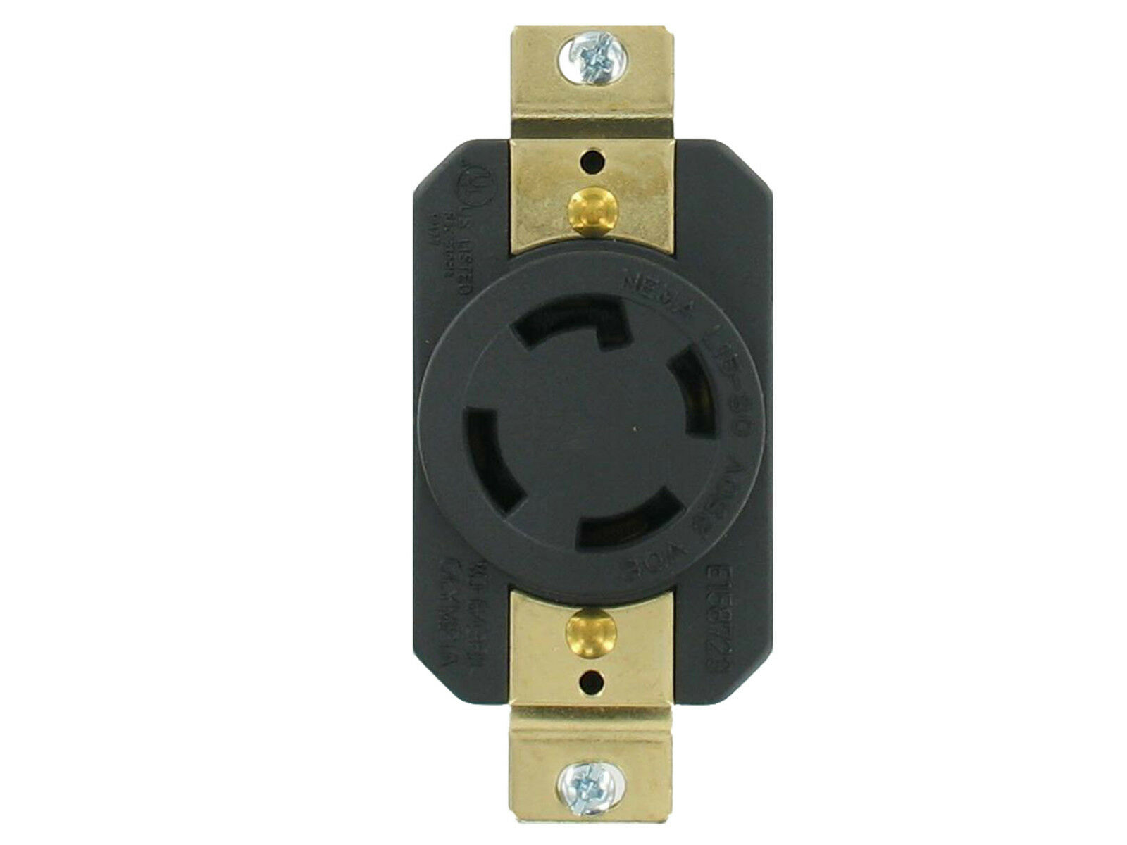 Nema L15 30 Amp 250v 3 Pole 4 Wire Grounding Single Outlet Electrical Receptacle 20 Amps 6 20r Yga022f Ebay 1 Of 2free Shipping