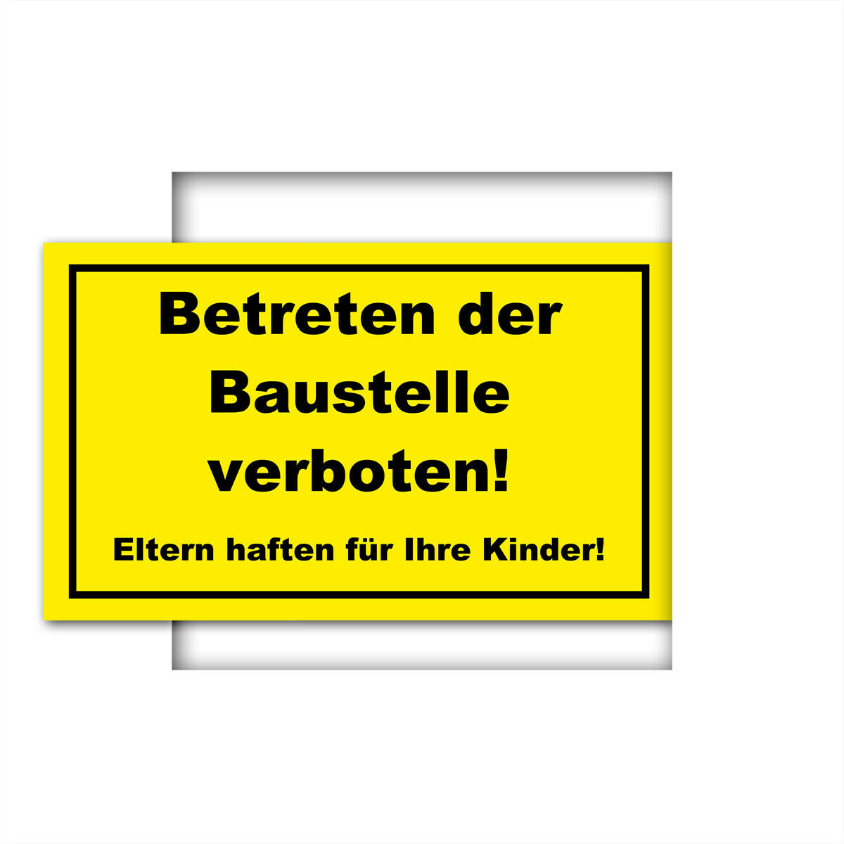 warnschild schild betreten der baustelle verboten eur 4 40 picclick de. Black Bedroom Furniture Sets. Home Design Ideas