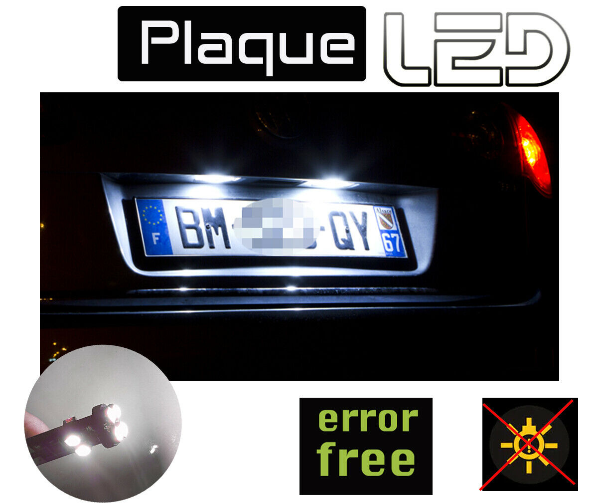 peugeot 207 ampoules plaque immatriculation led anti erreur odb clairage blanc chf. Black Bedroom Furniture Sets. Home Design Ideas