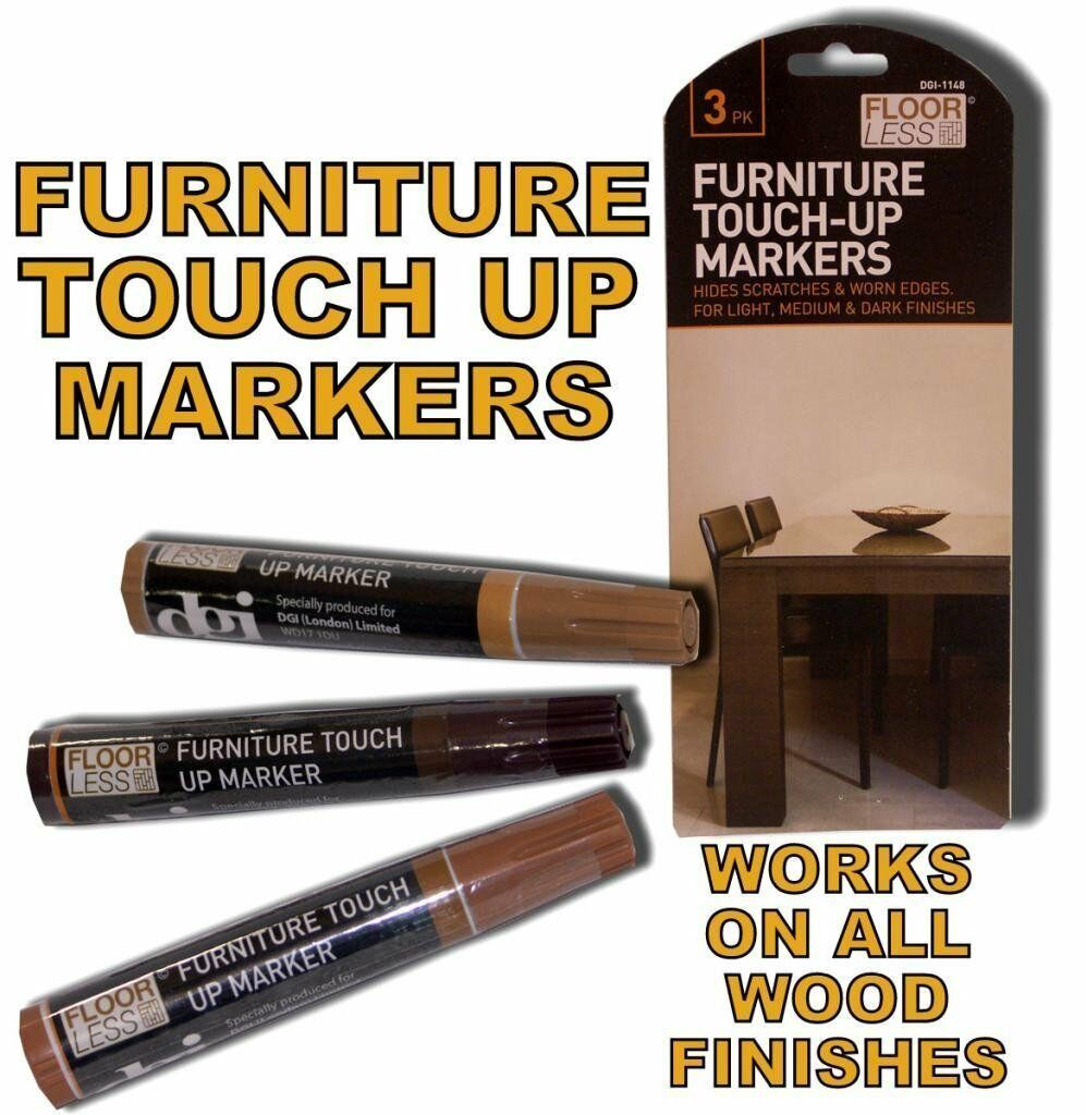 3 Furniture Touch Up Pen Marker Nicks Marks Scratches Laminate Wood Floor Repair Cad