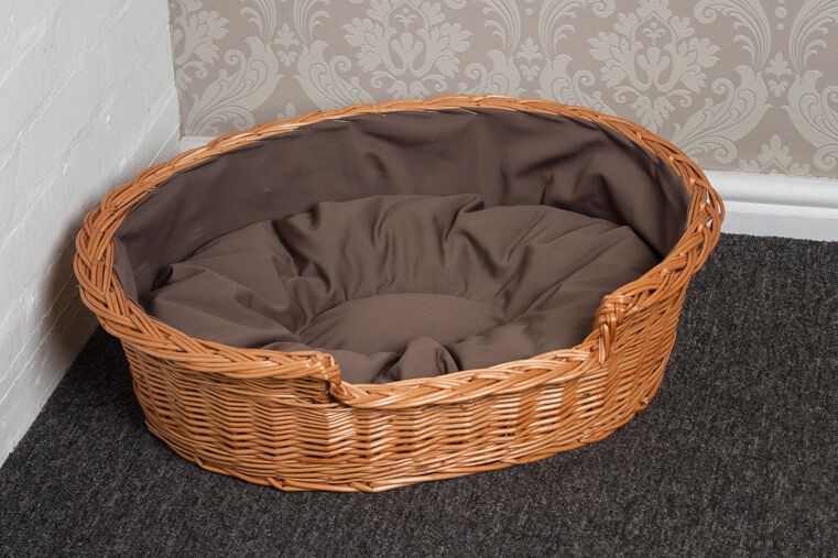 Small Wicker Cat Bed Basket with Cushion FREE DELIVERY