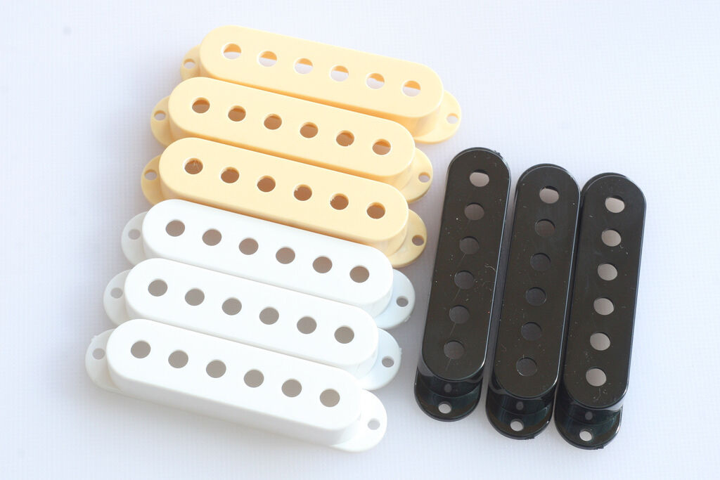 Stratocaster Pickup Covers Pole Spacing 52 mm. White Cream Black Available Strat