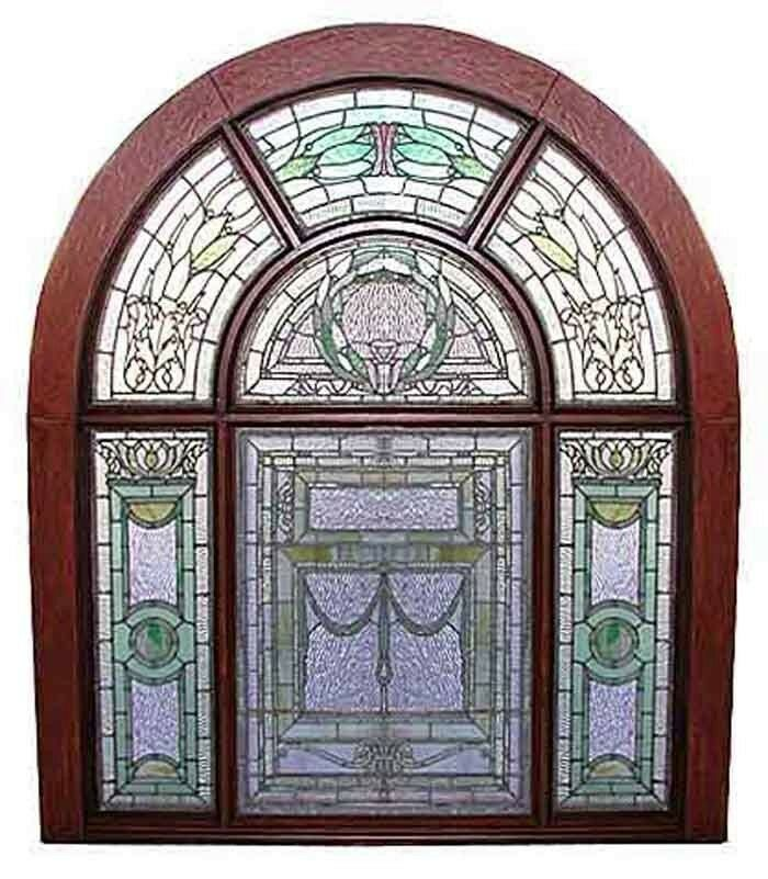 Stained Glass Landing Window #5751