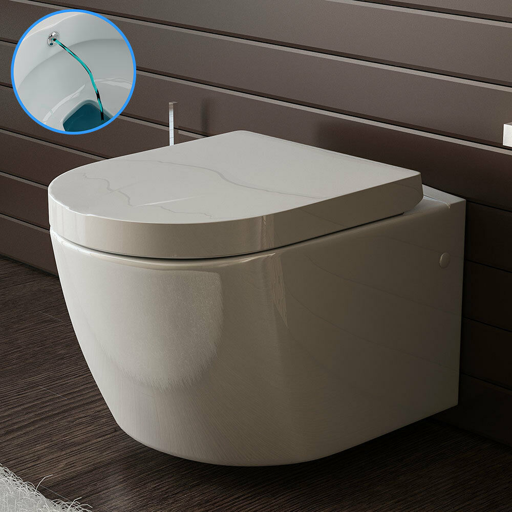 bad1a keramik toilette wand h nge wc mit bidet taharet funktion passt zu geberit eur 199 90. Black Bedroom Furniture Sets. Home Design Ideas