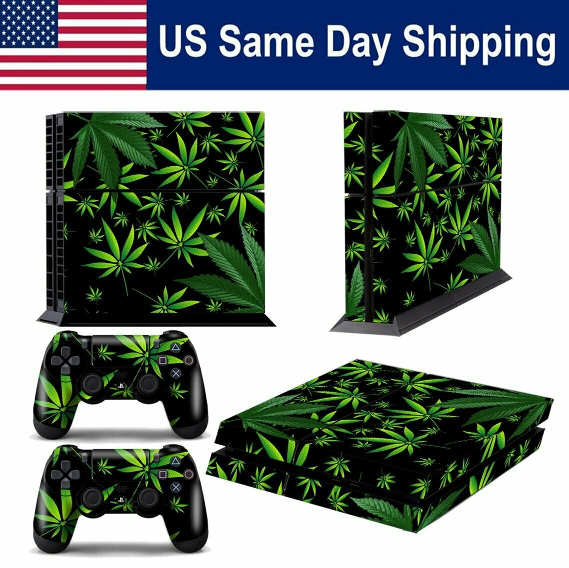 Decal Skin Sticker for Playstation 4 PS4 Console & Controller Decal Weeds Black 1 of 1Only 3 available ...