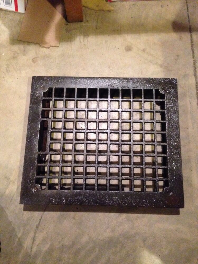 Gr 53 Antique Honeycomb Heating Grate With The Frame No Louvers 10 X12