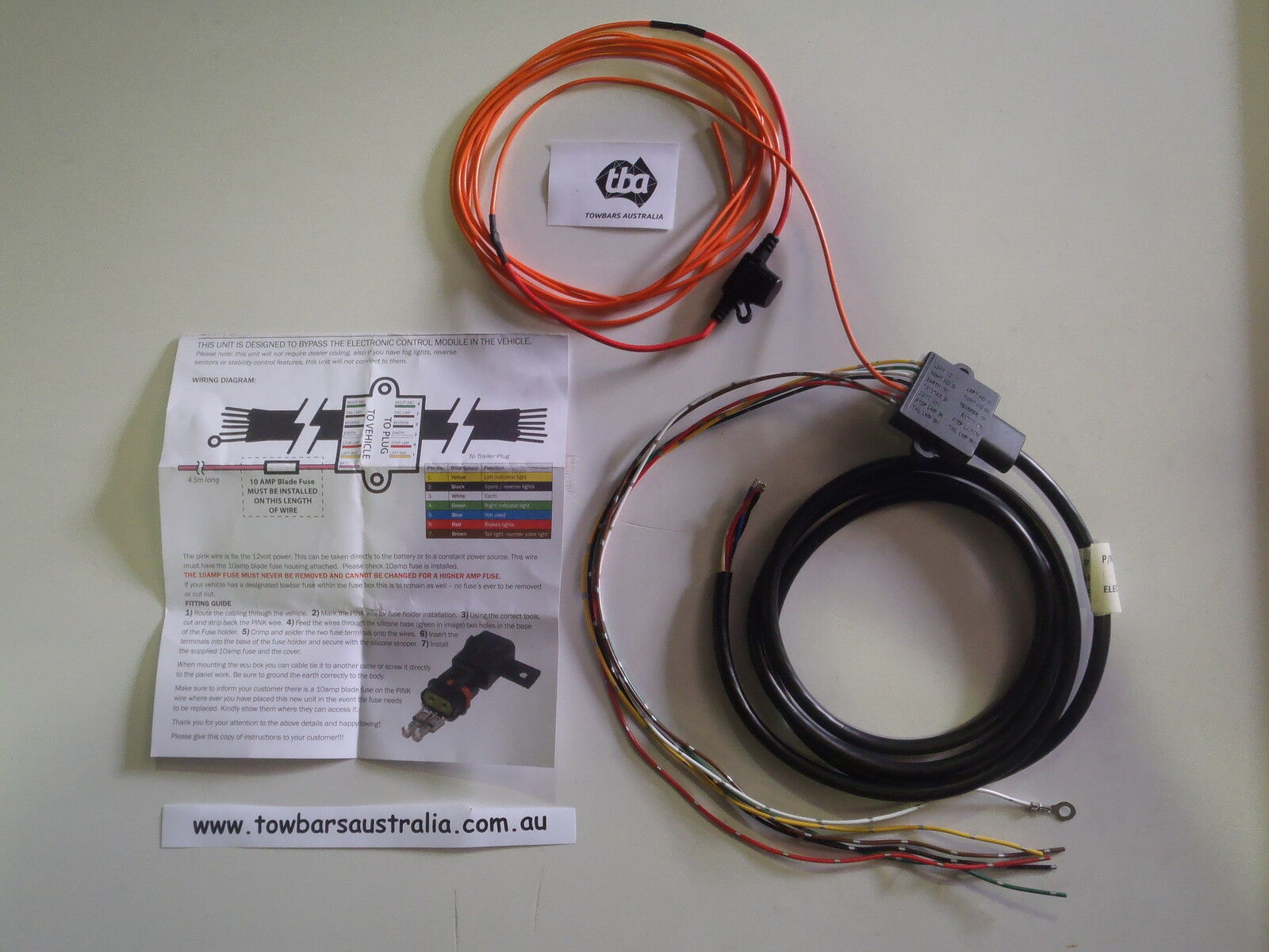 Universal Ecu Relay Towbar Wiring Kit Suits Most Vehicles Tbaec2 Vehicle Diagram 1 Of 1free Shipping