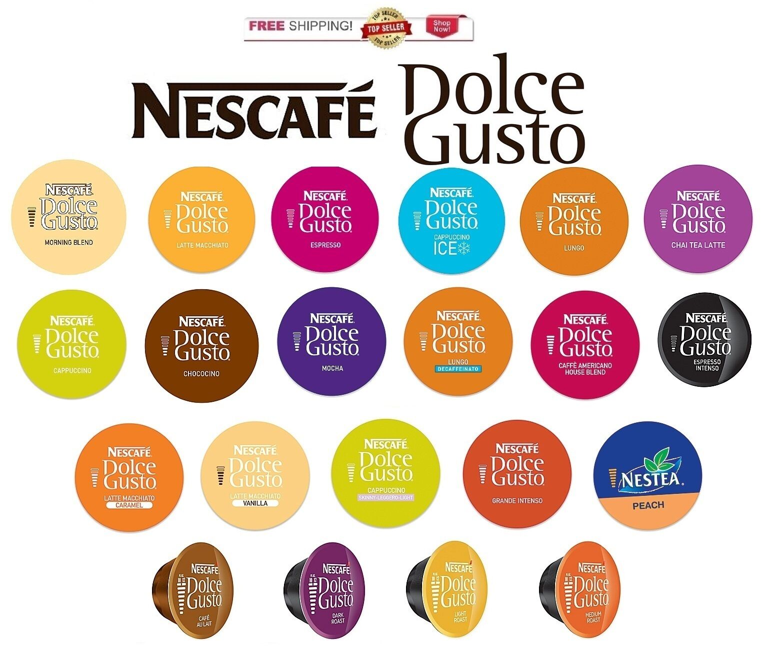 new nescafe dolce gusto capsules you pick the flavor. Black Bedroom Furniture Sets. Home Design Ideas