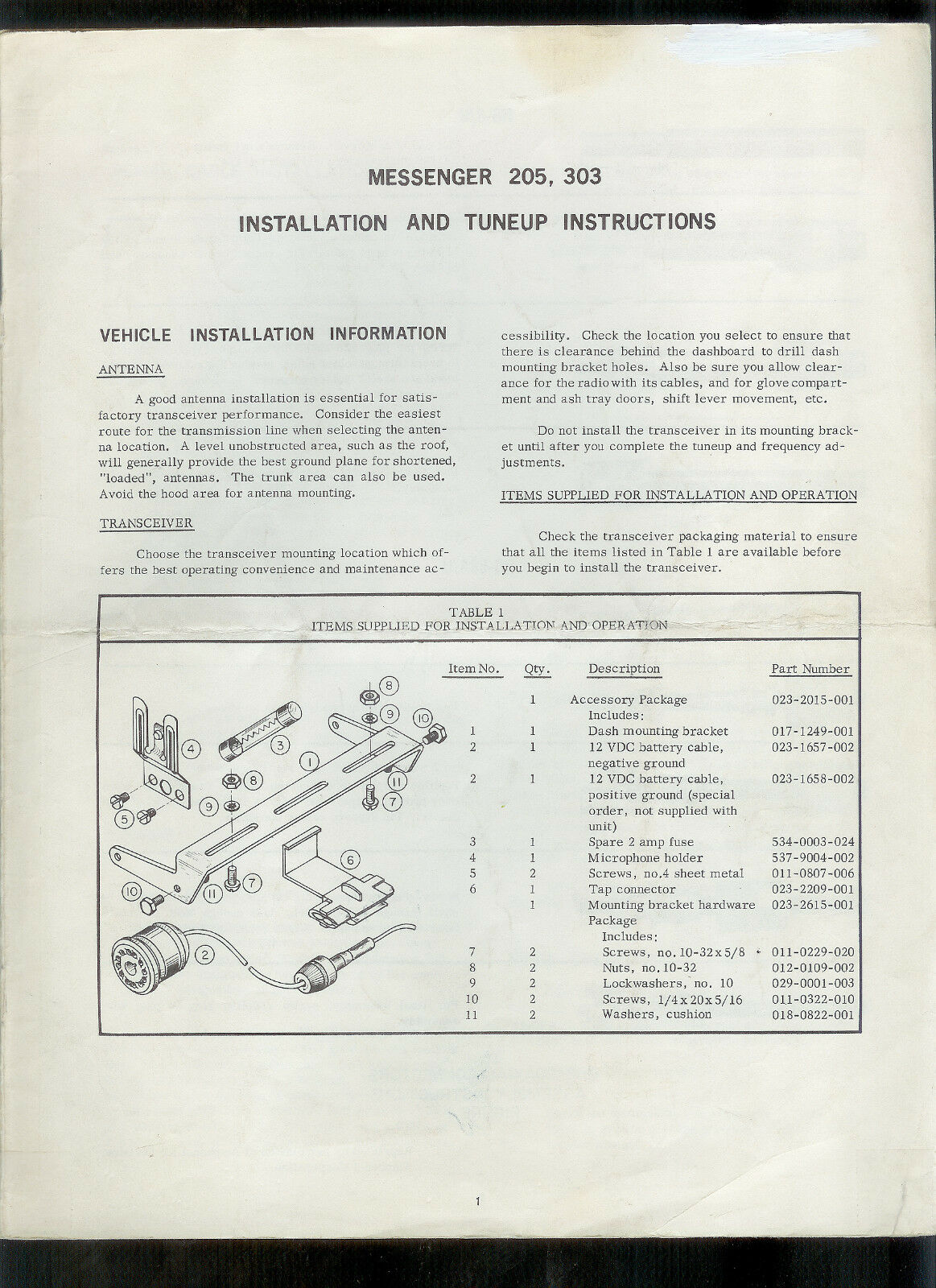 Orig Factory EF Johnson Messenger 205 303 2-Way Radio Tune Up Instruction  Manual 1 of 1Only 2 available See More