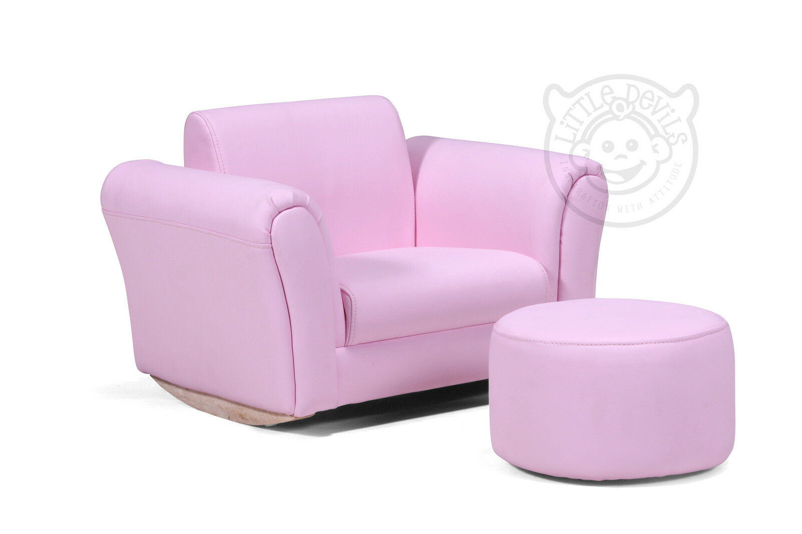 Pink lazybones kids rocking chair seat armchair sofa for for Toddler leather chair